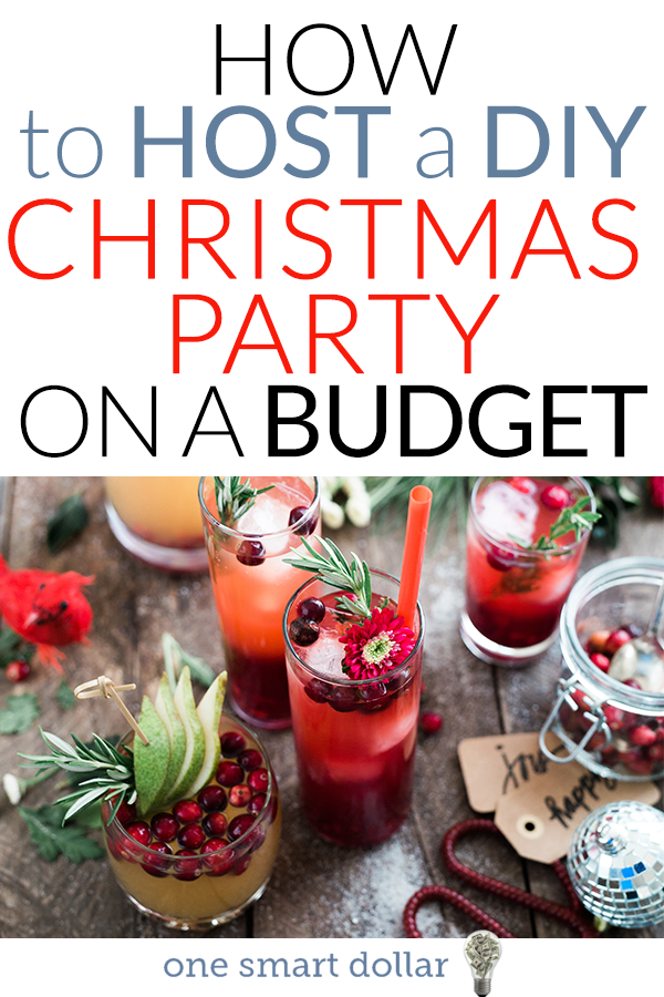 Are you hosting a Christmas party this year? Here are some helpful tips on how to host a DIY Christmas party on a budget. #Christmas #Party #DIY #ChristmasParty