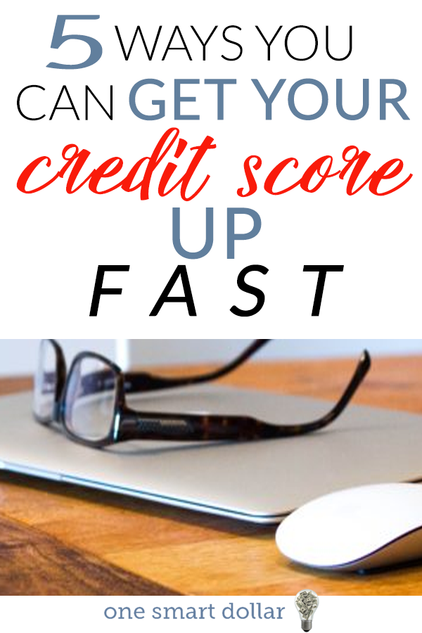 Want to raise your credit score by 100 points or more quickly? Here are five tips you need to follow. #CreditScore #Credit #FrugalLiving