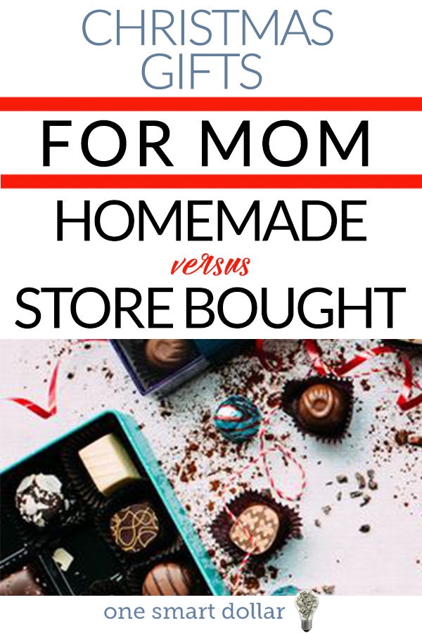 Coming up with the perfect Christmas gift for Mom is important. But should you make something homemade or buy it in the store? #SavingMoney #Frugal #ChristmasGifts