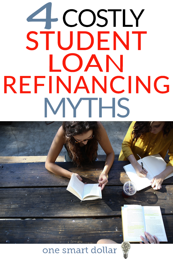 Have you been considering refinancing your student loan? Here are a few costly student loan refinance myths to know before. #StudentLoans #Debt #DebtFree