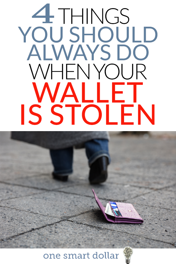If your wallet is lost or stolen, make sure you follow these four important tips. #Wallet #Money #CreditCards