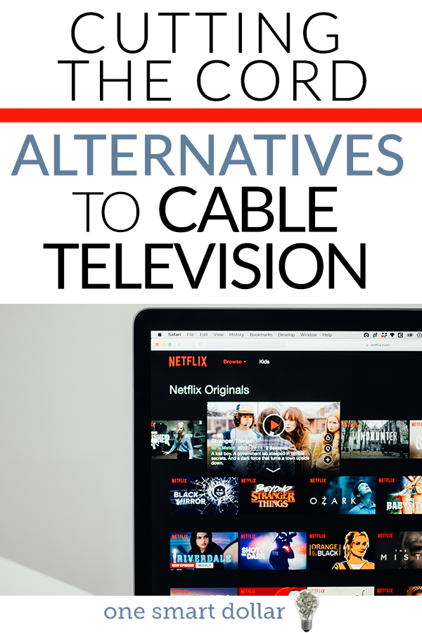 Are you paying too much for cable? Here are some great alternatives at a fraction of the price. #CuttingTheCord #Netflix #Hulu #AppleTV #Cable
